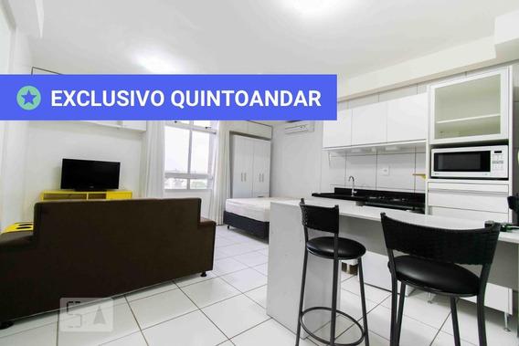 Apartamento No 5º Andar Mobiliado Com 1 Dormitório E 1 Garagem - Id: 892968341 - 268341