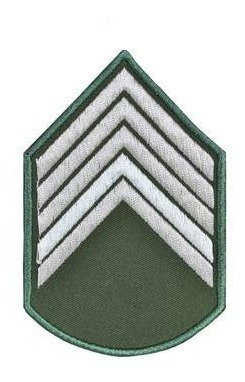 Divisa Bordada 2º Sargento Verde Oliva ( Par )