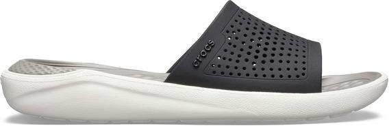Crocs Literide Slide Negro Hombre Mujer