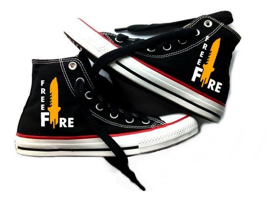 Tênis All Star Free Fire Converse Botinha Unissex