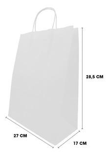 Bolsas De Papel Kraft Para Domicilios 50 Unidades 27+17x28,5