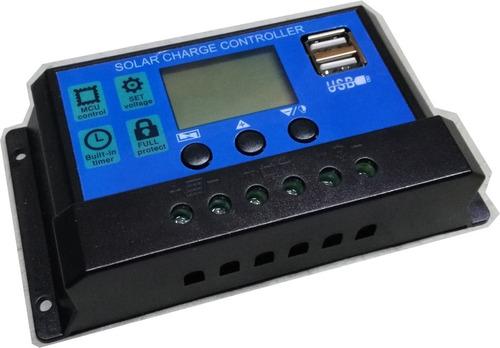 Imagen 1 de 1 de Regulador Para Panel Solar Dm 12v 24v 10a - Electroimpulso