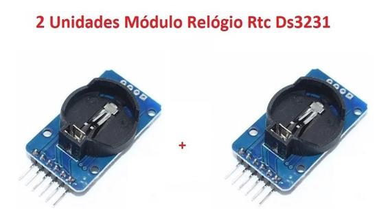 2 Unidades Módulo Relógio Rtc Ds3231 Arduino Pic