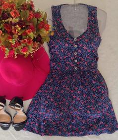 Vestido Flores Tam Unico