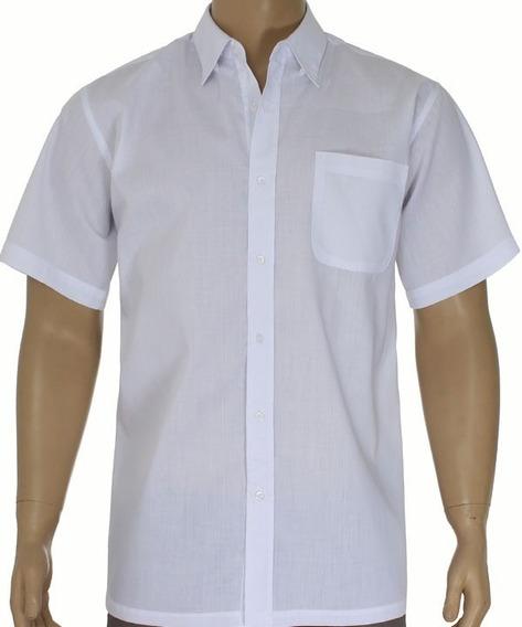 Camisa Social Masculina Manga Curta Direto Da Fábrica Kit40