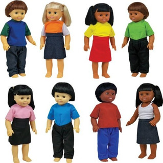 Get Ready Kids Multicultural Dolls, Set De 8
