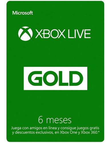Imagen 1 de 3 de Membresia Xbox Live 6 Meses Tarjeta Fisica