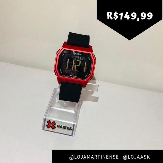 Relógio Xgames Preto Vermelho Digital