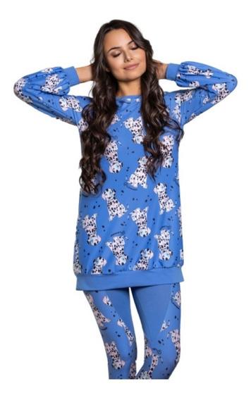 Ropa De Dormir Pijama Invierno Dama Mujer 10417 Urbana