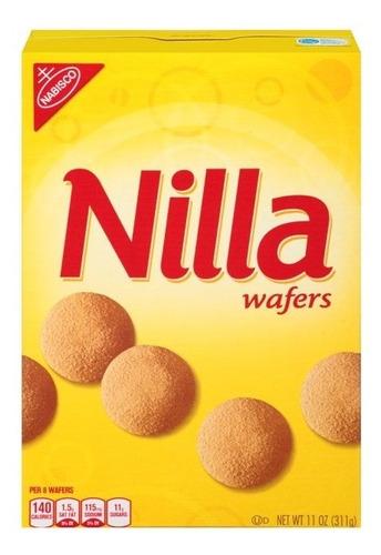 Imagen 1 de 4 de Galletas Nilla Wafers Vanilla Wafer Cookies Original 311g