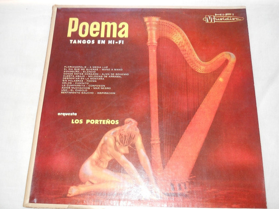 Disco Poemas Tangos En Hi-fi Orquesta Los Porteños.