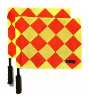 Banderas De Arbitro Drb (2 Unidades)