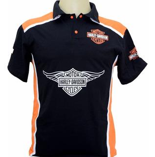 Camiseta Camisa Gola Polo Harley Davidson Ótimo Presente