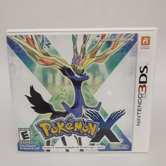 Pokemon X Nintendo 3ds Midia Fisica Jogo Game 2ds