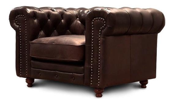 Sillón De Piel - Chesterfield - Conforto Muebles