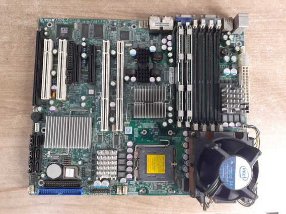 Kit Placa Mãe Servidor Super X7dvl-e + Xeon E5310 + 2 Gb Ram