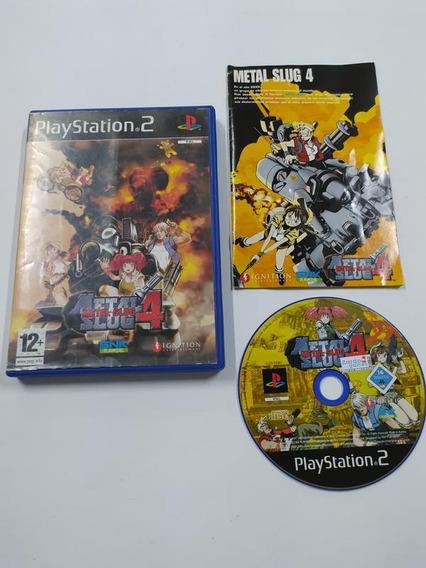 Metal Slug 4 - Ps2 - Playstation 2 - Sony - Completo