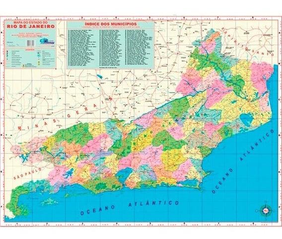 Mapa Estado Do Rio De Janeiro Político Rodoviário Atualizado