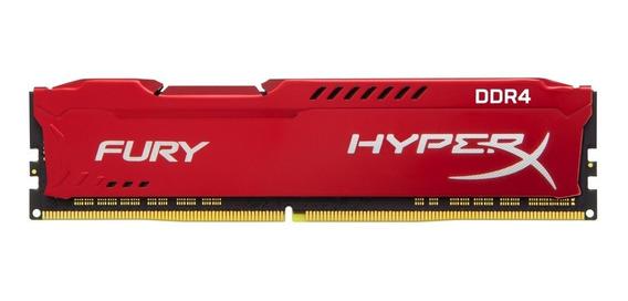 Memória Hyperx Fury 16gb Ddr4 2400mhz Vermelha Hx424c15fr/16