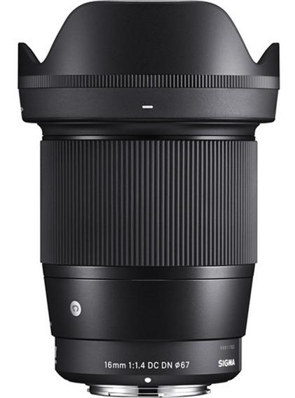 Lente Sigma 16mm F/1.4 Dc Dn Para Sony E