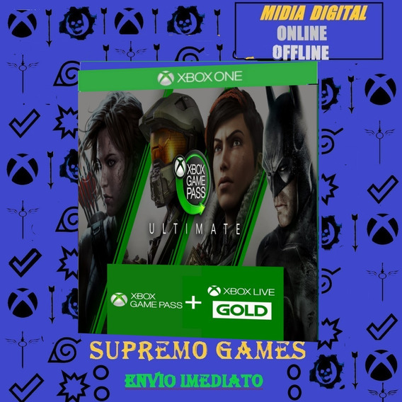 Game Pass Ultimate Xbox One 12 Meses Original 1 Ano Online