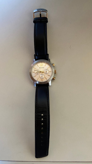 Bulova 98a141 Lindo Relógio Masculino Cronógrafo Semi-novo
