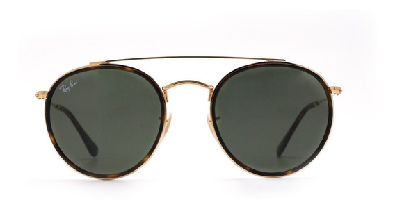 Óculos De Sol Ray Ban Round Double Bridge Rb3647 Unissex