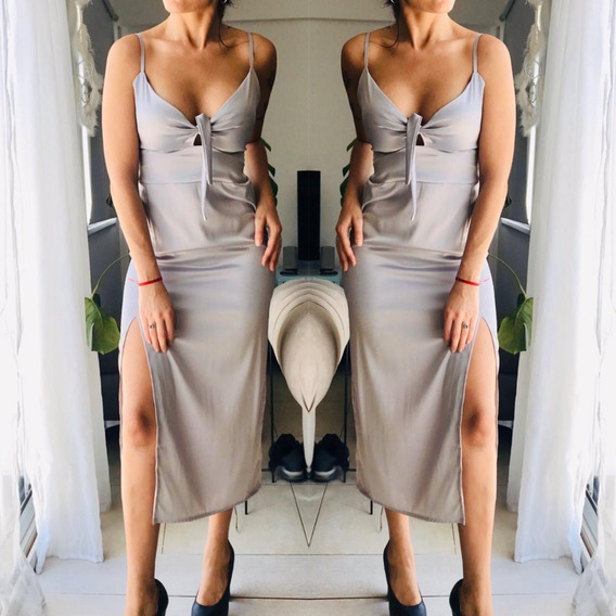 Vestido Largo Mujer Ideal Fiesta M1744