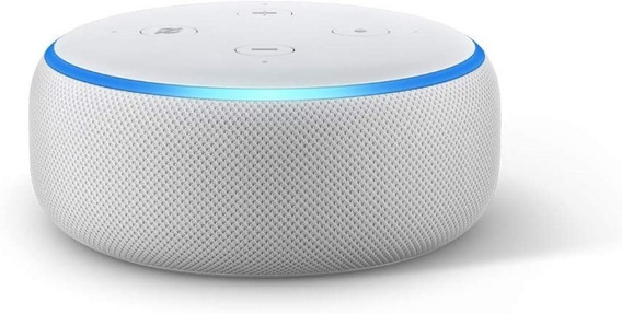 Smart Speaker Amazon Alexa Echo Dot 3 Branco Português Novo