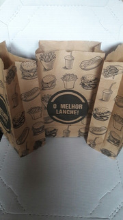800 Papel Acoplado Para Hambúrgueres Mais 200 Saco Krafit .