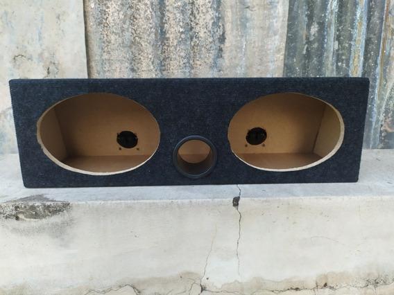 Caja Acústica Doble Para Parlantes 6x9 Ductada Con Borneras