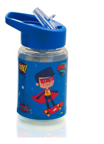 Botella Pocket Agua Jugo Niños Infantil Escolar Artentino