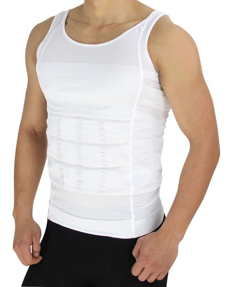 Camiseta Faja Playera Reductora Moldeadora Hombre Interior Tirantes Compresion Slim N Lift Envio Gratis