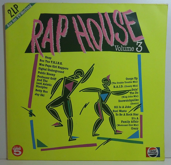 Va 1990 Rap House Volume 3 Lp Duplo M.c. Hammer / Snap