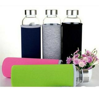 Botella Agua Vidrio Con Infusor Para Té (15 Piezas)