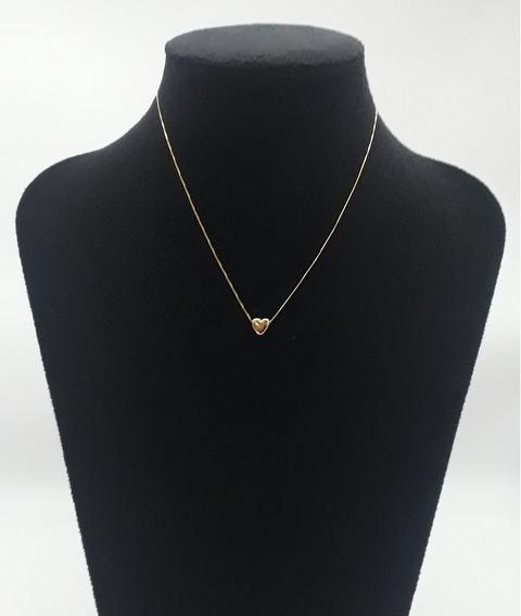 Corrente Banhada A Ouro Pingente Coração Exclusivo Gk7915 66