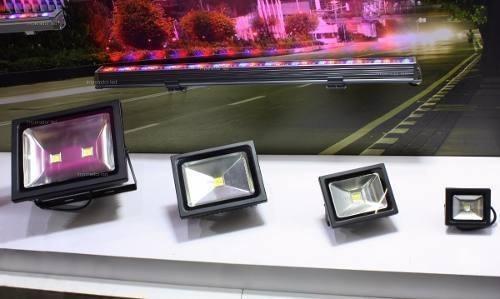7 Refletor Led 50w Real Holofote Prova D Agua Garant 3 Anos