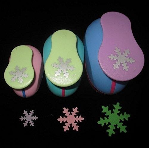 4 Sacabocados Copo Nieve Diferentes Tamaños Papel O Goma Eva