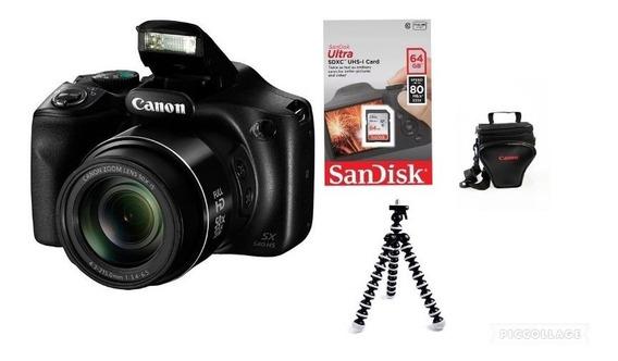 Câmera Canon Powershot Sx540 Hs Wi Fi +64gsd+bolsa+tripé