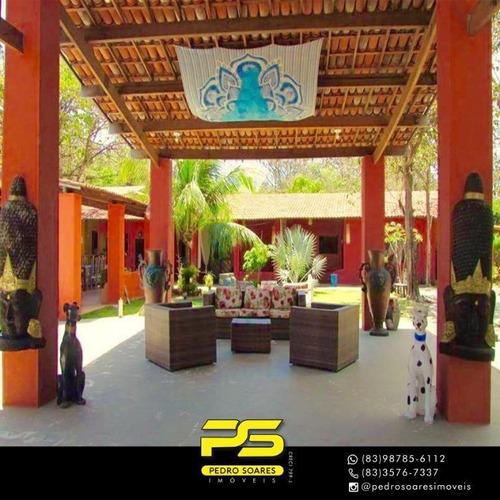 Hotel Com 20 Dormitórios À Venda, 17000 M² Por R$ 10.000.000 - Centro - Tibau Do Sul/rn - Ch0020
