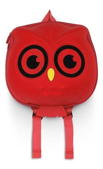 Mochila Buho Owl Gato Colores Backpack