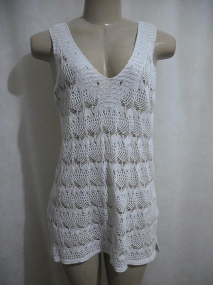 Vestido Branco Saida Praia Curto Tam U Usado Bom Estado