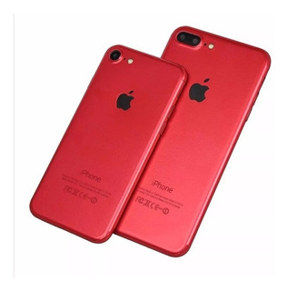 Película Adesiva Traseira Red Skin iPhone 7 7 Plus Vermelha