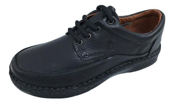 Zapatos Joos Casual Confort Hombre Piel Cocido Negro Y Cafe