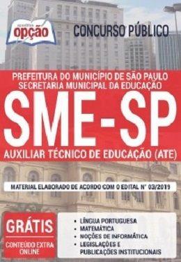Apostila Sme-sp 2019 - Auxiliar Técnico De Educação (ate)