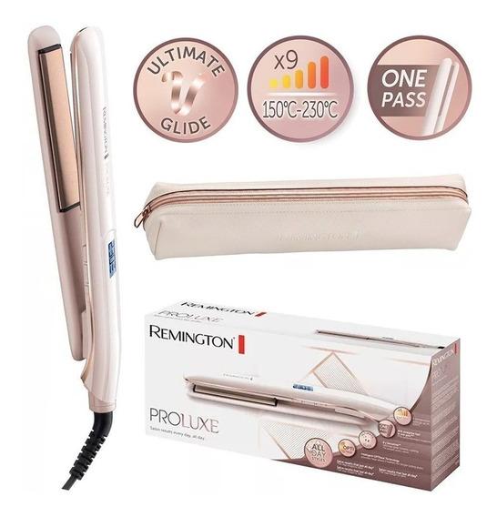 Plancha Cabello Pro Therma Luxe Fija Peinado Remington