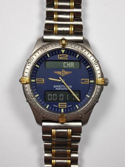 Breitling Aerospace Titânio E Ouro Ref. 56062