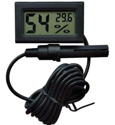 Imagen 1 de 4 de Termómetro Higrómetro Digital Con Sonda Termometrohigrometr
