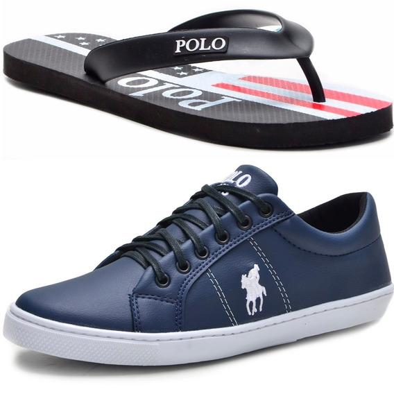 Kit Masculino Polo Plus Original Tênis E Chinelo Oferta!!!