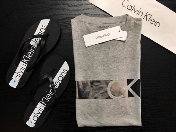 Playera Calvin Klein It Grey Hthf Original